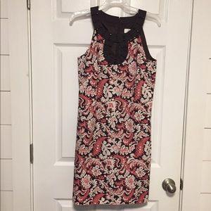 Ann Taylor Loft dress sz.4 paisley Brown/ pink